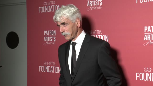 sam elliott at the sag-aftra foundation's 3rd annual patron of the artists awards at wallis annenberg center for the performing arts on november 8,... - sam elliott stock videos & royalty-free footage