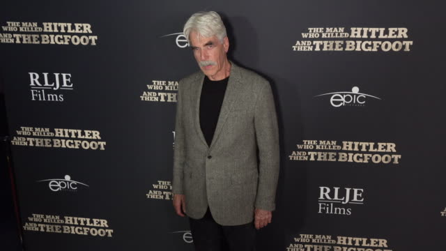 sam elliott at the the man who killed hitler and then the bigfoot los angeles premiere at arclight hollywood on february 04 2019 in hollywood... - bigfoot video stock e b–roll