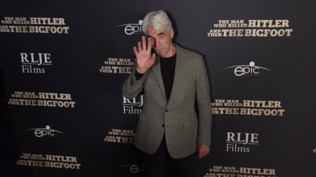 sam elliott at the 'the man who killed hitler and then the bigfoot' los angeles premiere - bigfoot video stock e b–roll