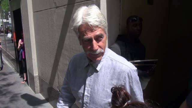 sam elliott at the 'today' show, signs for fans in celebrity sightings in new york, - sam elliott stock videos & royalty-free footage