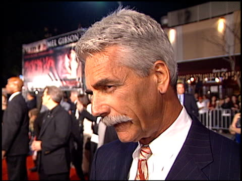 sam elliott at the 'we were soliders' premiere at the mann village theatre in westwood, california on february 22, 2002. - regency village theater stock videos & royalty-free footage