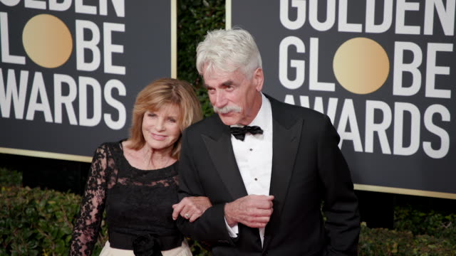 sam elliott katharine ross at 76th annual golden globe awards on january 06 2019 in los angeles california - best supporting actor stock videos & royalty-free footage