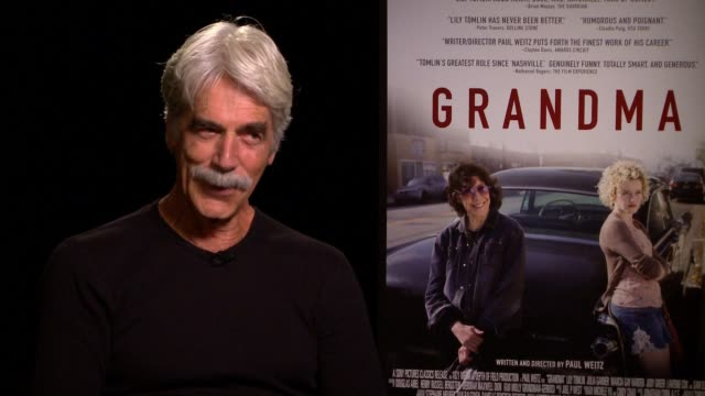 sam elliott on working with lily tomlin and if they'd met before, on why the story resonated with him, on if they had a chance to bond on-set, on his... - sam west stock videos & royalty-free footage