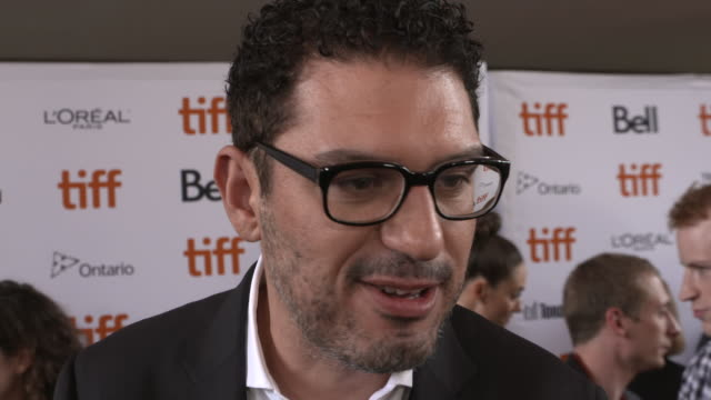 sam esmail on why be felt this podcast would be an amazing series, lining up his dream cast and why prime video was a perfect home for the series at... - toronto international film festival stock videos & royalty-free footage
