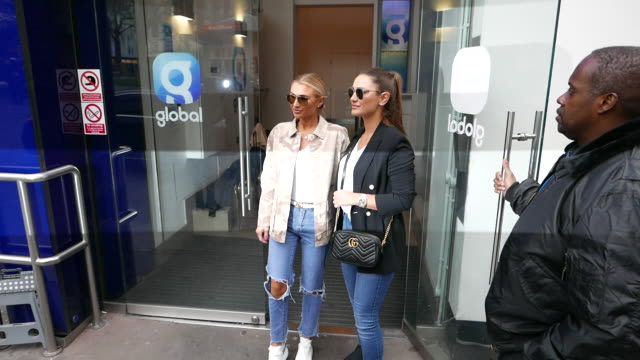 sam faiers and billie faiers arrive at heart breakfast radio studios at celebrity sightings in london on march 27, 2019 in london, england. - celebrity sightings stock videos & royalty-free footage