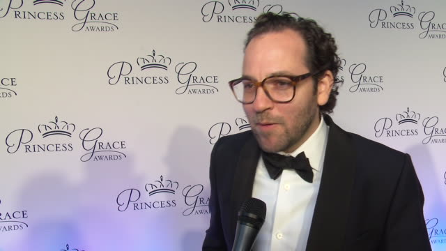sam gold talks about the first time he won an award and supporting emerging artists at the 2018 princess grace awards gala at cipriani 25 broadway on... - マンハッタン チプリアーニ点の映像素材/bロール