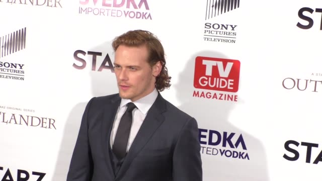 sam heughan at the tv guide magazine celebrates starz's outlander at pailhouse in west hollywood in celebrity sightings in los angeles, - sam west stock videos & royalty-free footage