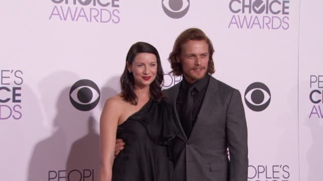 Sam Heughan Caitriona Balfe at People's Choice Awards 2015 in Los Angeles CA