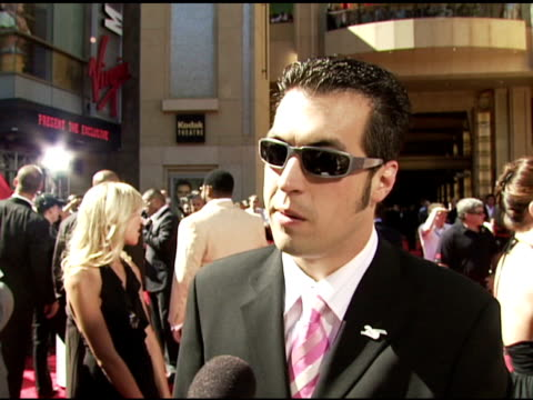 vidéos et rushes de sam hornish jr on being part of espy event on how he feels around all the other athletes on what makes a great athlete at the 2006 espy awards... - espy awards