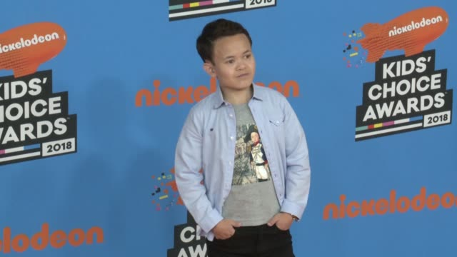 sam humphrey at the nickelodeon's 2018 kids' choice awards at the forum on march 24 2018 in inglewood california - 31st annual nickelodeon kids' choice awards stock videos and b-roll footage