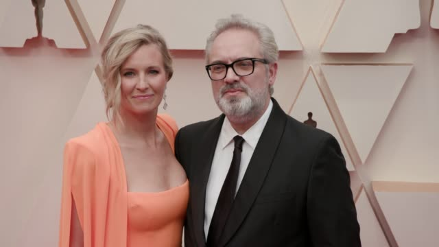 sam mendes and alison balsom at the 92nd annual academy awards at the dolby theatre on february 09 2020 in hollywood california - sam mendes stock videos & royalty-free footage