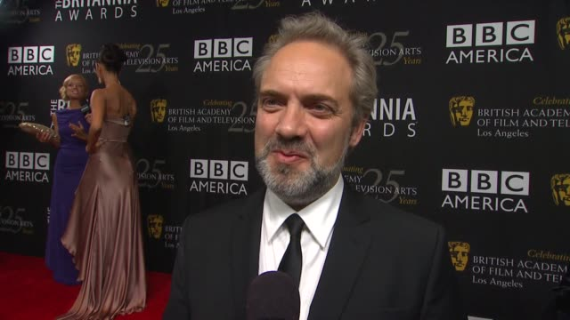stockvideo's en b-roll-footage met sam mendes on coming to support daniel why he deserves the honor looking forward to opening weekend and why its great for bafta to have an la... - sam mendes