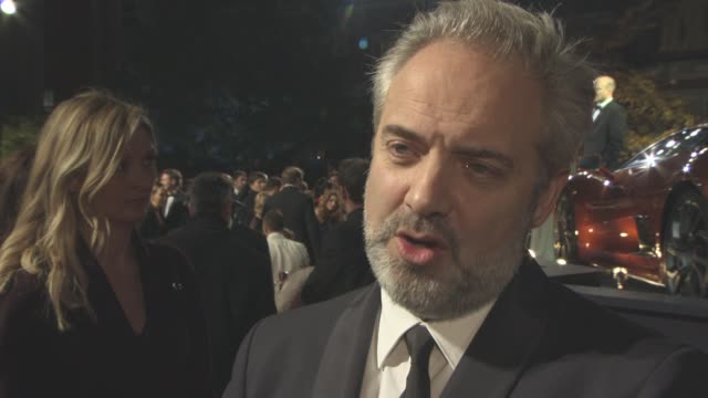 interview sam mendes on daniel craig on the humor in the film at 'spectre' world premiere at royal albert hall on october 26 2015 in london england - spectre 2015 film stock videos and b-roll footage