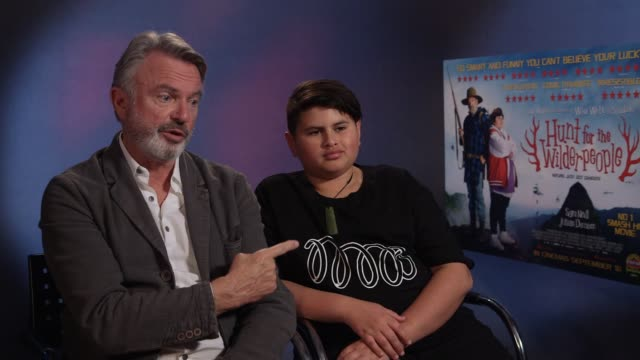 INTERVIEW Sam Neill Julian Dennison on how they got involved in the film what attracted them to the role at 'Hunt for the Wilderpeople' Interviews on...