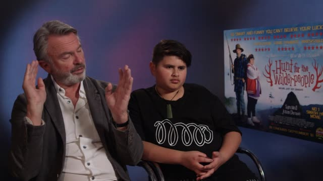 INTERVIEW Sam Neill Julian Dennison on the type of film the market audience at 'Hunt for the Wilderpeople' Interviews on September 15 2016 in London...
