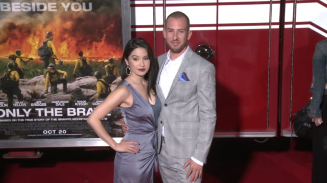 sam quinn at the only the brave premiere at regency village theatre on october 08 2017 in westwood california - only the brave 2017 film stock videos & royalty-free footage