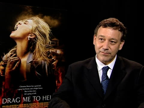 sam raimi discusses how he did not intend to go out and make another 'evil dead' and how weird it is that his film is showing at cannes film festival... - 62 ° festival internazionale del cinema di cannes video stock e b–roll