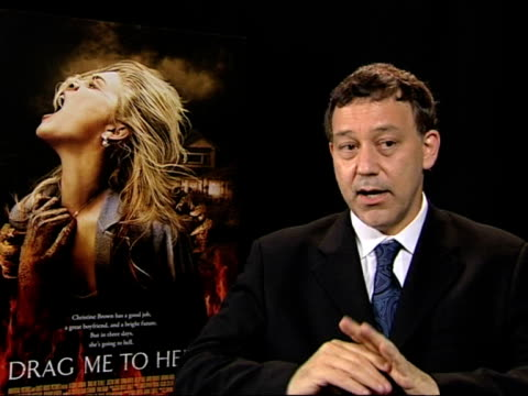 sam raimi talks about how they prepared and tested the safety of the physical effects for the actors to do in their scenes at the cannes film... - 62 ° festival internazionale del cinema di cannes video stock e b–roll