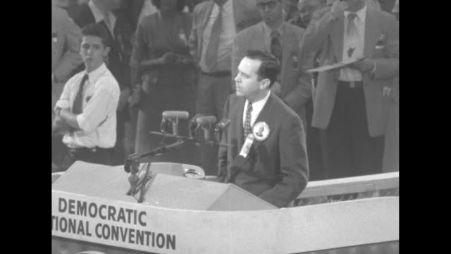 sam rayburn chairman of the democratic national convention at rostrum introducing louisiana senator russell young / calvin rawlings chairman of the... - sam rayburn stock videos and b-roll footage