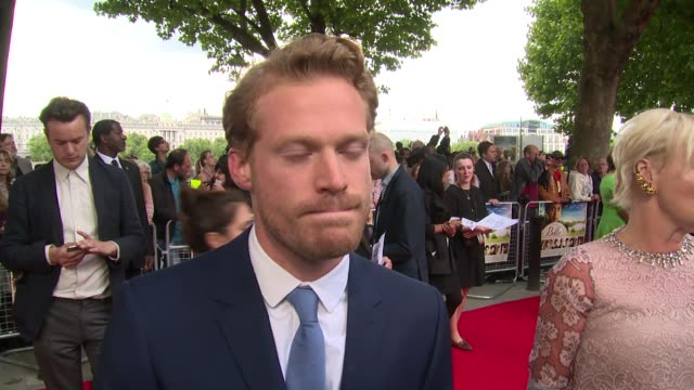 interview sam reid on the movie messages and oprah winfrey at the 'belle' premiere at bfi southbank on 5 june 2014 in london england - bfi southbank stock videos & royalty-free footage