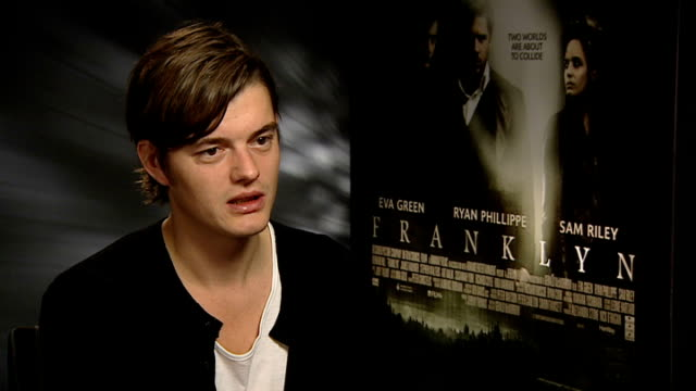Sam Reilly and Ryan Phillippe interviews for new movie 'Franklyn' ENGLAND London INT Sam Reilly interview SOT On his family and friend's reaction to...