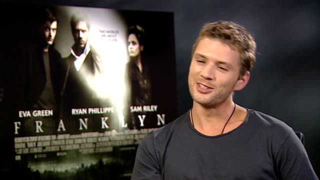 Sam Reilly and Ryan Phillippe interviews for new movie 'Franklyn' Ryan Phillippe interview SOT On performing stunts in 'Franklyn' / On working with...