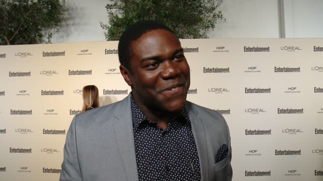 interview sam richardson on favorite television moments from this past season and on what entertainment weekly means to them at entertainment... - entertainment weekly stock videos and b-roll footage
