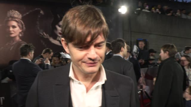 sam riley on returning to the maleficent franchise and what angelina jolie is like as a screen partner at odeon imax waterloo on october 09 2019 in... - europe stock videos & royalty-free footage