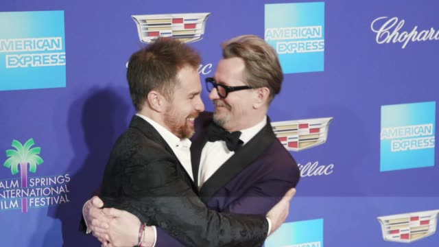 Sam Rockwell and Gary Oldman at the 29th Annual Palm Springs International Film Festival Awards Gala at Palm Springs Convention Center on January 02...