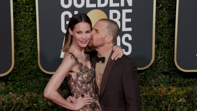 sam rockwell and leslie bibb at 76th annual golden globe awards on january 06 2019 in los angeles california - best supporting actor stock videos & royalty-free footage