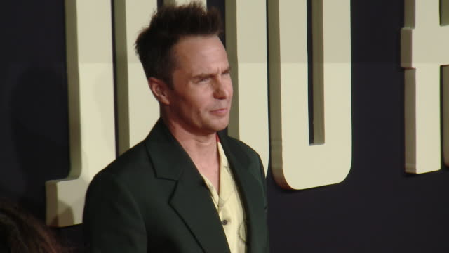 """sam rockwell at the """"jojo rabbit"""" los angeles premiere presented by fox searchlight pictures in los angeles ca - fox searchlight pictures stock videos & royalty-free footage"""