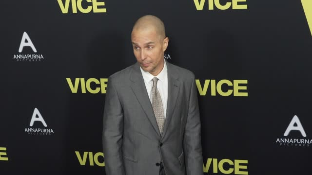 Sam Rockwell at the Vice World Premiere at Samuel Goldwyn Theater on December 11 2018 in Beverly Hills California