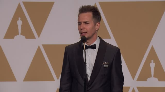 SPEECH Sam Rockwell on winning Best Supporting Actor at the 90th Academy Awards Press Room at Dolby Theatre on March 04 2018 in Hollywood California