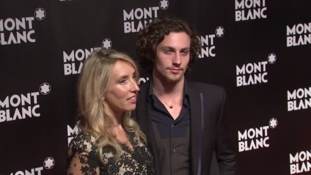 Sam TaylorWood and Aaron Johnson at the Global Launch Of The Montblanc John Lennon Edition at New York NY