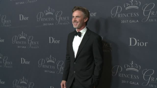 sam trammell at 2017 princess grace awards gala with presenting sponsor christian dior couture at the beverly hilton hotel on october 25, 2017 in... - the beverly hilton hotel stock videos & royalty-free footage