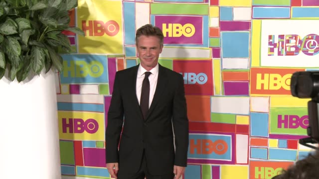 vídeos y material grabado en eventos de stock de sam trammell at hbo's official 2014 emmy after party at the plaza at the pacific design center on august 25 2014 in los angeles california - premios emmy