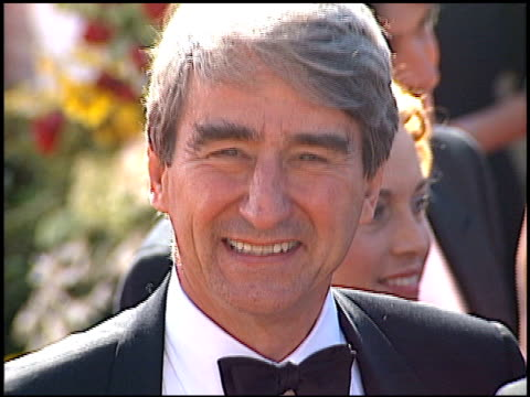 sam waterston at the 2000 emmy awards at the shrine auditorium in los angeles, california on september 10, 2000. - shrine auditorium stock videos & royalty-free footage