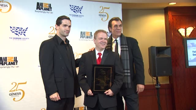 sam witwer, scott b. taylor, robert davi at the the 25th anniversary genesis awards presented by the humane society of the united states at century... - robert davi stock videos & royalty-free footage