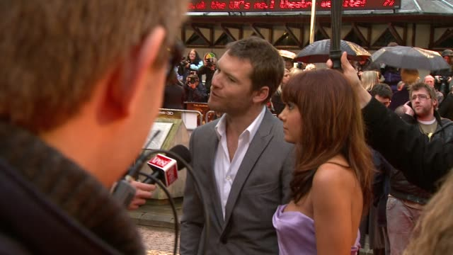 sam worthington at the the clash of the titans at london england - clash of the titans stock videos & royalty-free footage