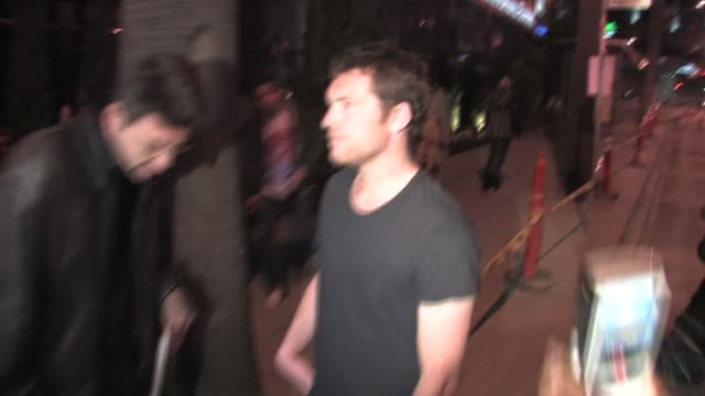 sam worthington outside trousdale in west hollywood at the celebrity sightings in los angeles at los angeles ca. - sam west stock videos & royalty-free footage