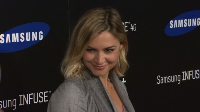 Samaire Armstrong at the Samsung Infuse 4G For ATT Launch Event Featuring Nicki Minaj at Los Angeles CA