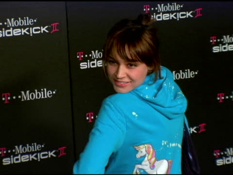 Samaire Armstrong at the 'TMobile Sidekick II' Launch Party arrivals at the Grove in Los Angeles California on August 5 2004