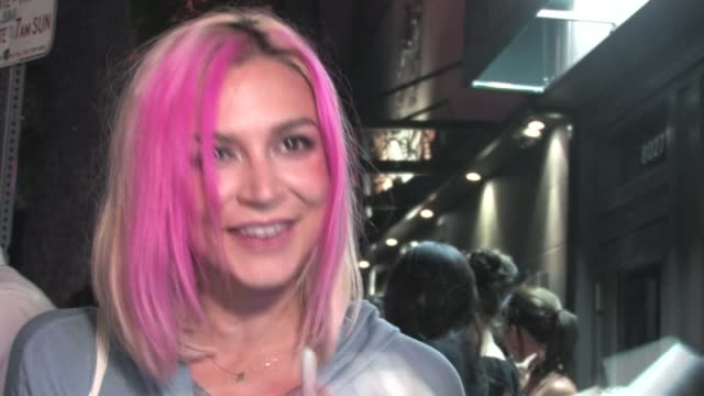 Samaire Armstrong leaving Hyde in West Hollywood