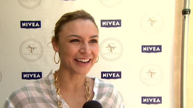 Samaire Armstrong on her favorite part of summer on what she's doing to kickoff the start of summer on attending the NIVEA/Shay Todd Bikini Bash on...