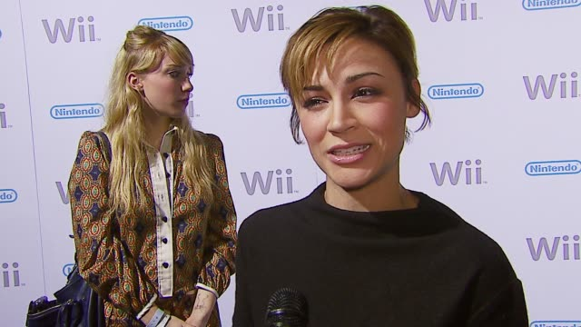 Samaire Armstrong on Nintendo and how she would design a video game at the Nintendo WII Launch Party at Boulevard 3 in Los Angeles California on...