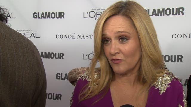 INTERVIEW Samantha Bee on being around such esteemed women at Glamour's 2017 Women Of The Year on November 13 2017 in New York City
