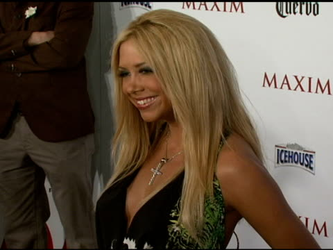 Samantha Cole at the Maxim's 8th Annual Hot 100 Party at Ono at The Gansevoort Hotel in New York New York on May 16 2007