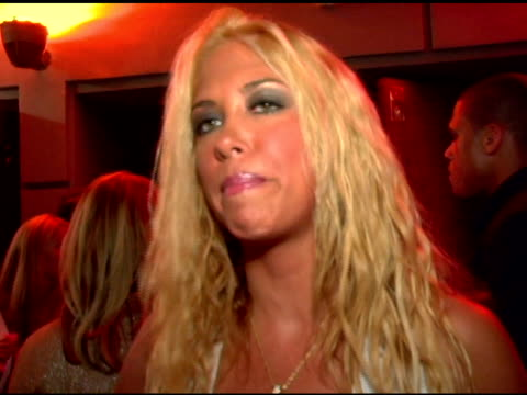 samantha cole/ singer she speaks about plans for her next album her love for paris and how she can drive a golf ball 250 yards at the paris hilton... - marquee nightclub manhattan stock-videos und b-roll-filmmaterial