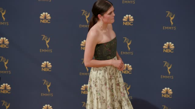 samantha colley at the 70th emmy awards arrivals at microsoft theater on september 17 2018 in los angeles california - 70th annual primetime emmy awards stock videos and b-roll footage