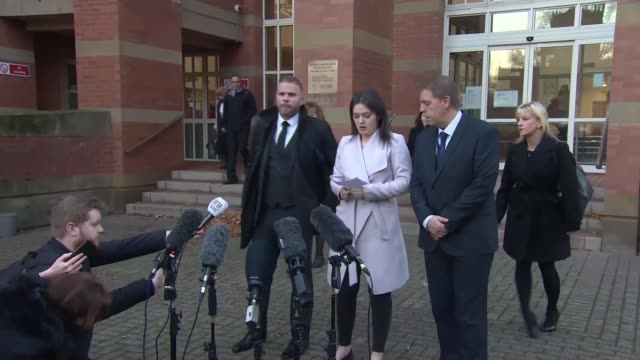 Former lover jailed for life ENGLAND Staffordshire StokeonTrent EXT Family of Samantha Eastwood outside court after her former lover Michael Stirling...